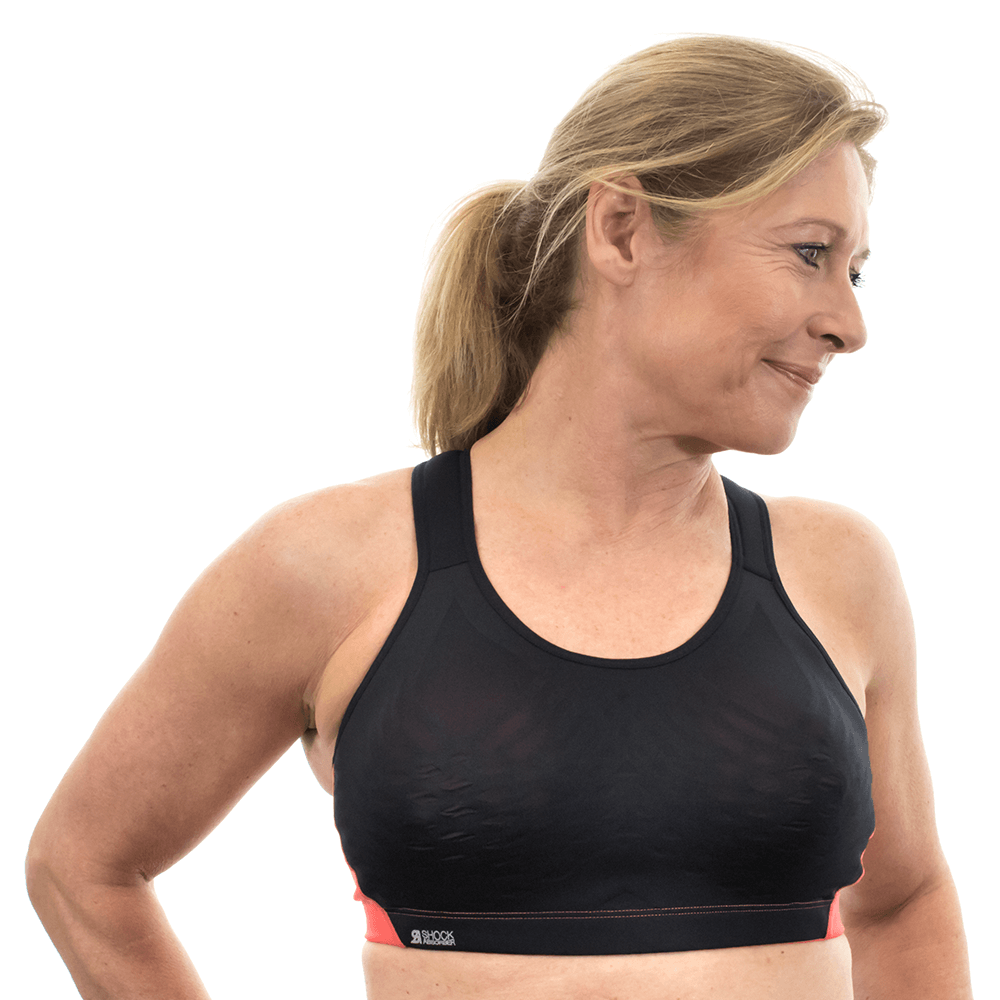 Shock Absorber Ultimate Fly Bra Black//Coral S02Y3 High Impact Bounce Control Bra